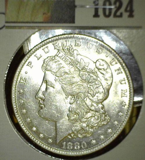 1880 O Morgan Silver Dollar, High grade.
