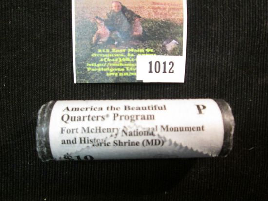 2013 9 Original U.S. mint-wrapped Roll of America the Beautiful Fort McHenry National Mounument and