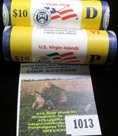 2009 P & D Original U.S. Mint wrapped Rolls of U.S. Virgin Islands Quarters. CDN bid is $32 each. (8