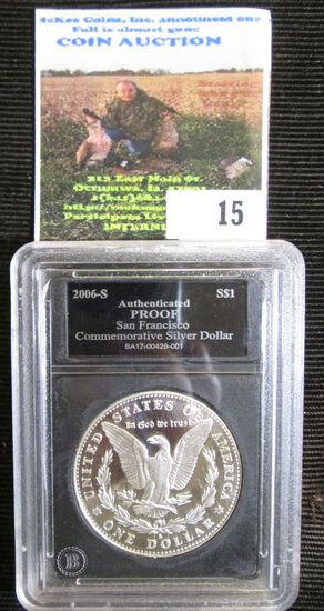2006-S Proof San Francisco Mint Commemorative Dollar In Coin Holder