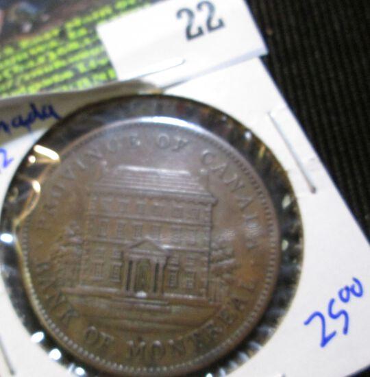 Canadian 1852 Bank Token