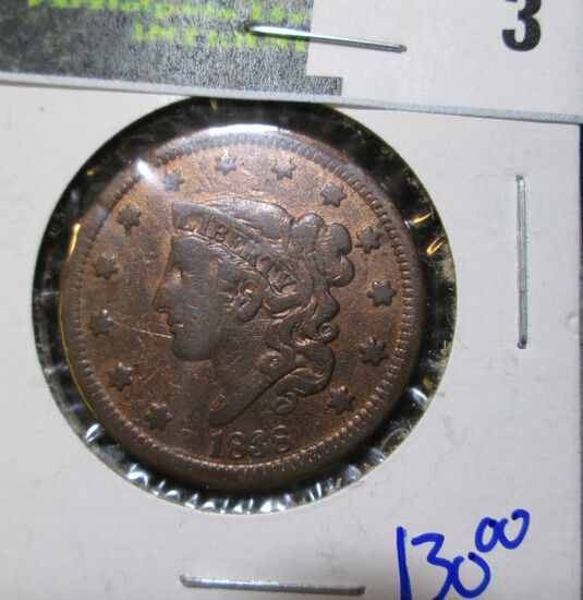 High Grade Reddish Brown 1838 Large Cent