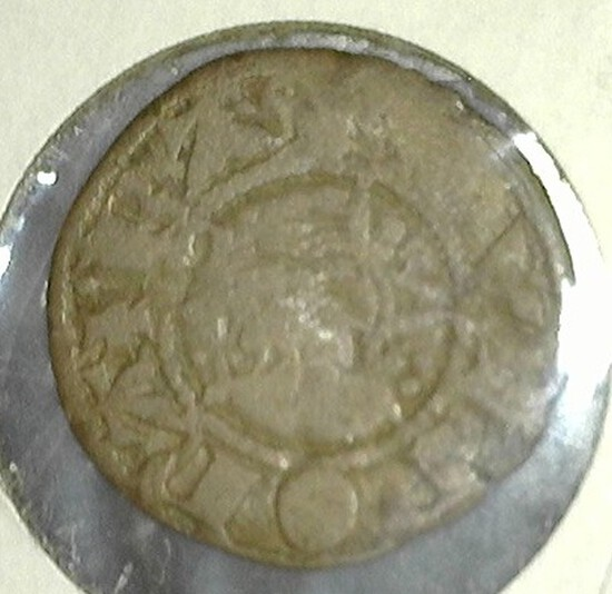 Silver English Penny From The Middle Ages