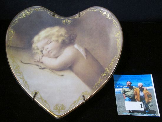 Plate No. 5677F limited edition Sweet Slumber by Bessie Pease Gutmann First issue in the Love's Heav