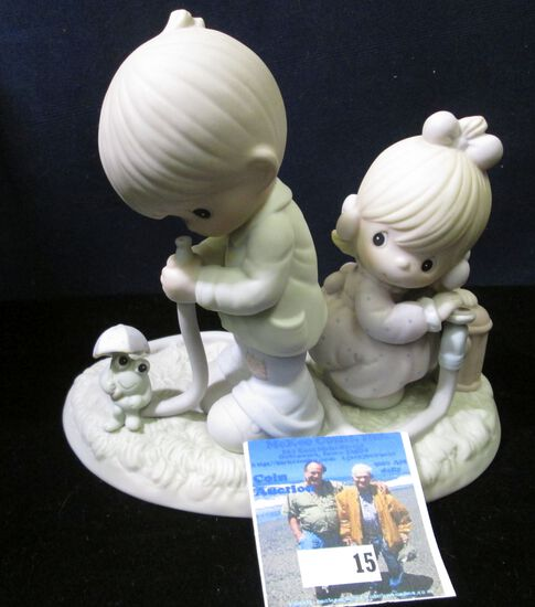"""1989 """"Precious Moments There Shall Be Showers of Blessings"""" Porcelain Figurine, #522090."""