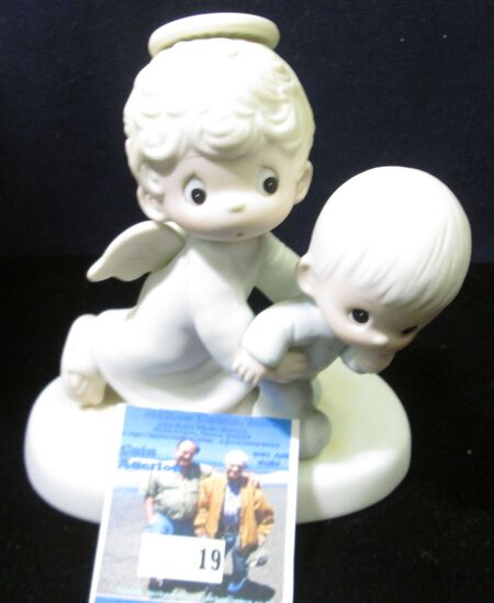 "1983 Jonathan & David ""Baby's First Step"" Porcelain Figurine."