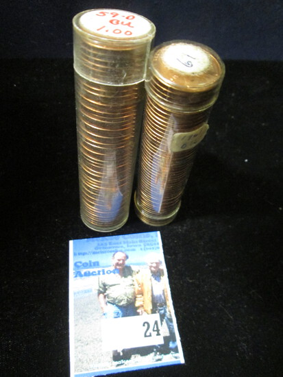 1959 D & 61 P Gem BU Solid-date Rolls of Lincoln Cents.