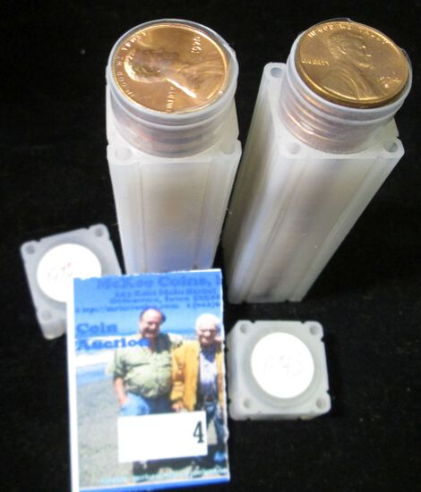 1970 P & 74 S Gem BU Solid-date Rolls of Lincoln Cents.