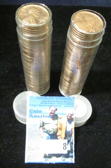 1972 S & 73 S Gem BU Solid-date Rolls of Lincoln Cents.