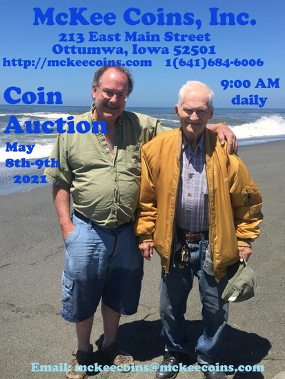 Mckee Coins Inc. Live Auction May 8-9