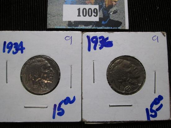 1934 & 1936 Buffalo Nickels