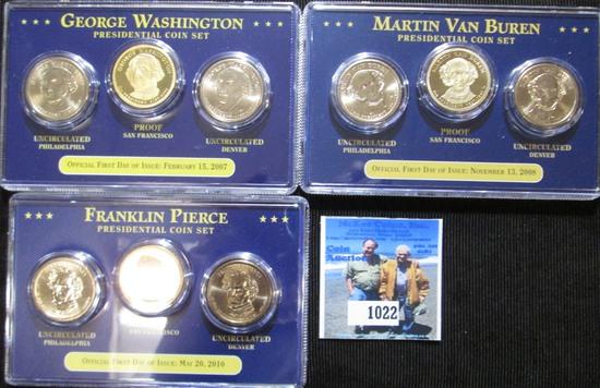 Presidential Dollar Sets Includes George Washington, Martin Van Buren, & Franklin Pierce