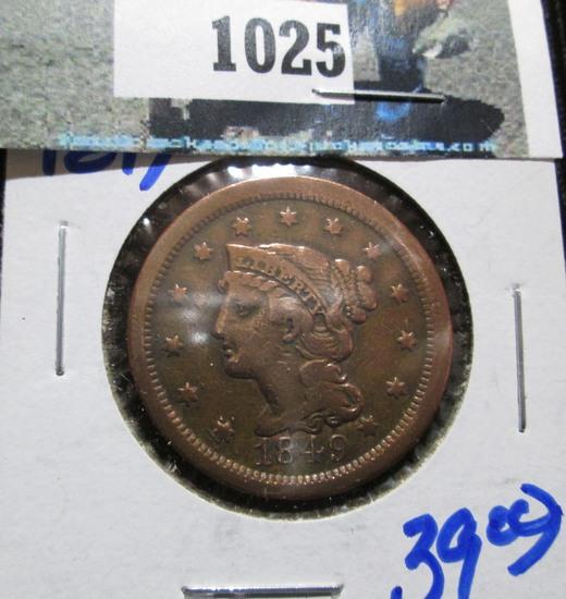 1849 Braided Hair Large Cent