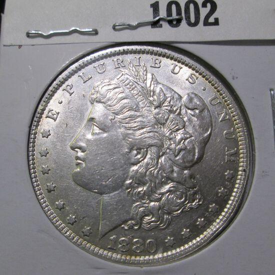 1880 P Morgan Silver Dollar, EF+.