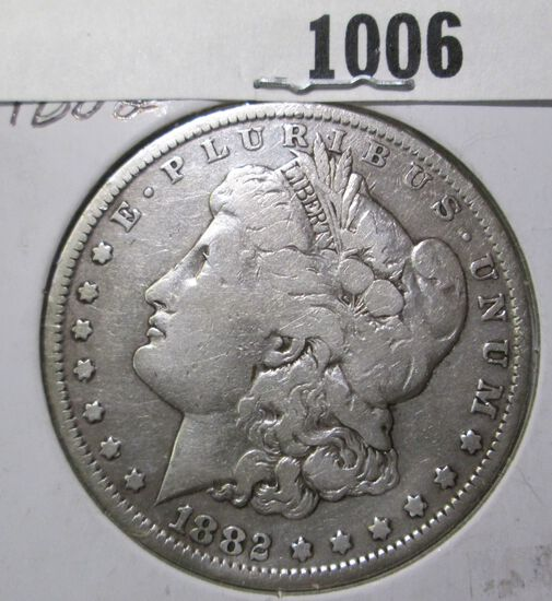 1882 New Orleans Mint Morgan Silver Dollar