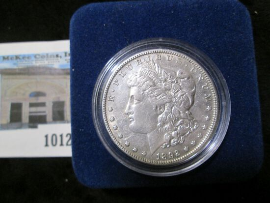 1892 P Morgan Silver Dollar in velvet-lined box with C.O.A.