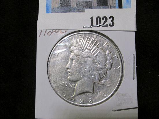 1928 S U.S. Peace Silver Dollar.