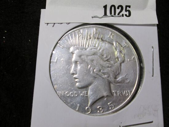 1935 S U.S. Peace Silver Dollar.