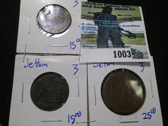 (3) 17th & 18th Century Jettons