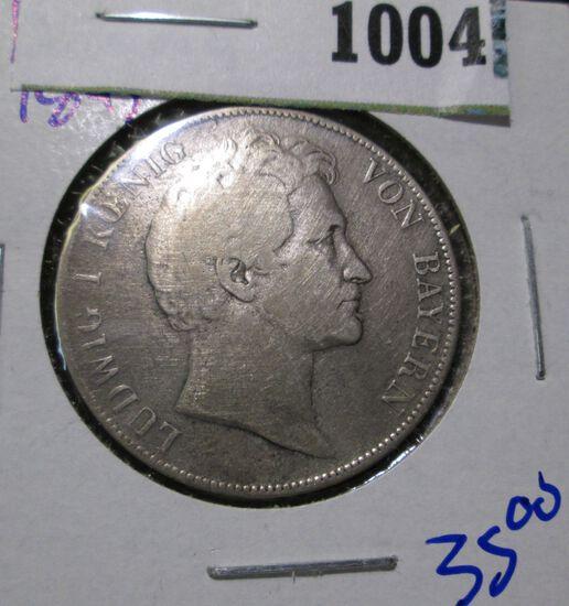 German States- Bavaria Silver 1 Gulden  Km Number 788