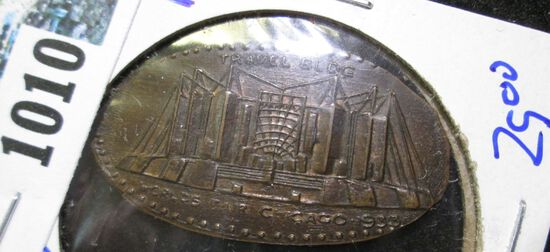 Elongated Penny From The 1933 Chicago's Worlds Fair