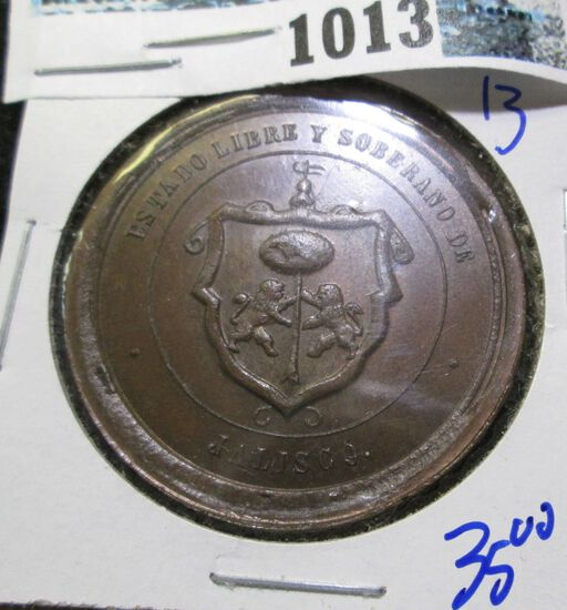 Free & Sovereign State Of Jaliego Medal Award For Instruction