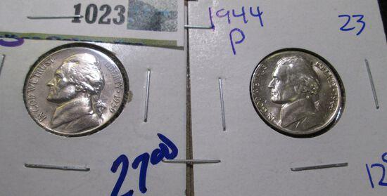 1939-S & 1944-P Silver War Nickel