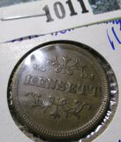 1800's Store Card Token Advertising Piece For The Thomas Kensett Canning Co