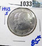 1923-S Monroe Doctrine Silver Commemorative Half Dollar