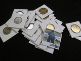 (10) Bu 20 Centavos From Columbia Dated 1965 & 10- Bu One Sol Coins From [Peru With A Llama On The F