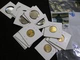 (10) Bu Ceylon 1 Rupees Coins From Sri Lanka & 10 Bu 25 Centavos From  Peru Dated 1965