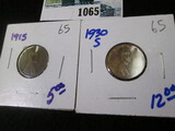 1915 & 1930-S Wheat Cents