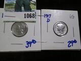 1917-D & 1920-S Mercury Dimes