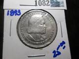 1893 Columbian Expo Commemorative Silver Half Dollar