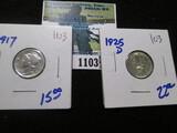 1917 & 1925-D Mercury Dimes