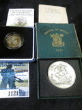 1951 Festival Of Britain 5 Shillings Coin & A Proof Sterling Silver Commemorative One Pound Coin Dat