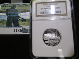 2008-S Silver Arizona Quarter Graded Proof 70 Ultra Cameo.  This Books For R$35