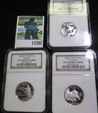 2008-S Silver Proof Quarters Lot Includes Alaska, Oklahoma, & Hawaii
