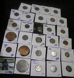 Hodge Podge Lot Includes Buffalo Nickels, Proof Coins, Wheat Cents, Random Medals, & More