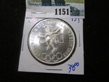 1968 Silver Mexican Olympic 25 Pesos Coin
