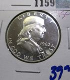 1962 Proof Franklin Half Dollar