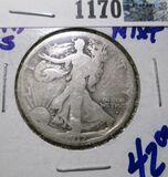 1917-S Obverse Mintmark Walking Liberty Half