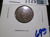 1870 Indian Head Cent With A Scratch