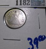 1853 Seated Dime With Arrows