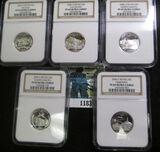 5- 2006-S Proof Silver 50 State Quarters Graded Proof 69 Ultra Cameo