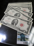 (17) Crisp & Consecutive Series Of 1963 Two Dollar Red Seal Notes