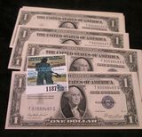 (12) Crisp & Consecutive Series Of 1935-E One Dollar Silver Certificates