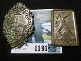 (2) Vintage German Sports Badges Includes  a1903 Gymnastics Badge & Shot Put Badge