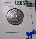 1868 Three Cent Nickel