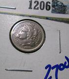 1866 Three Cent Nickel